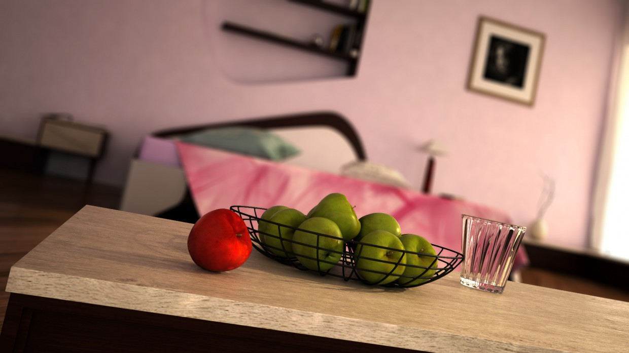 Apples in Maya vray 3.0 image