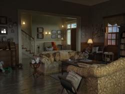 Эскиз декорации для промо ролика к компьютерной игре.
