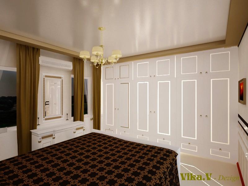 Cпальня в 3d max vray изображение