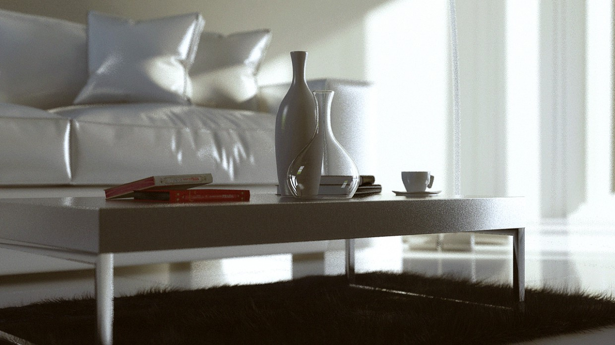 Coffee table in 3d max mental ray image