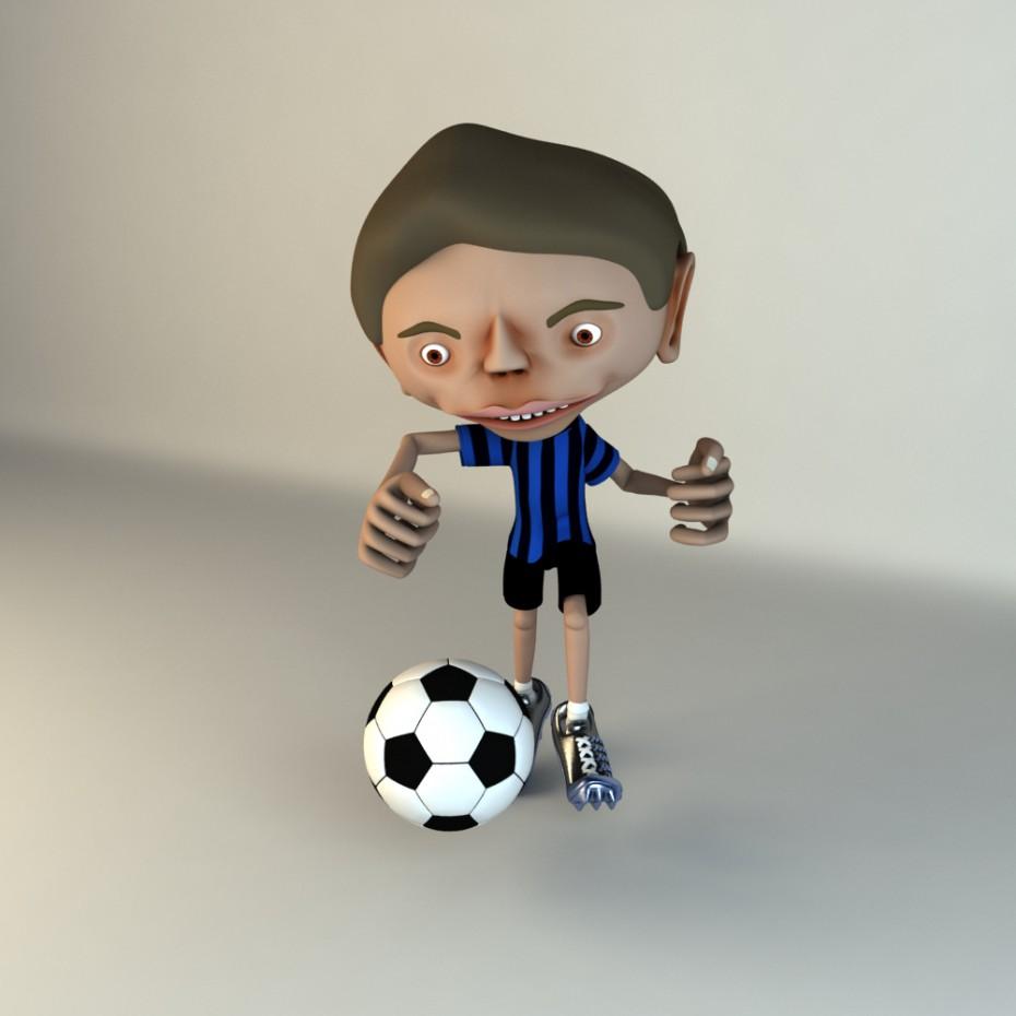Персонаж мультфильма в Maya vray изображение