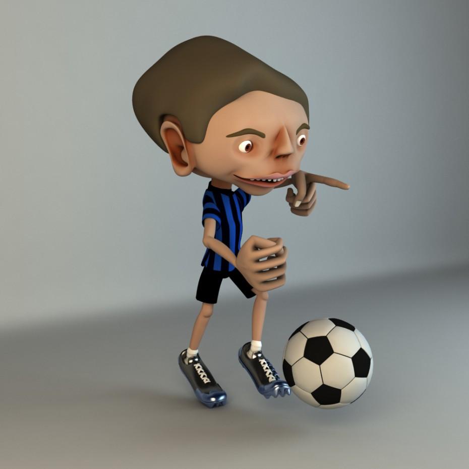Cartoon character in Maya vray image