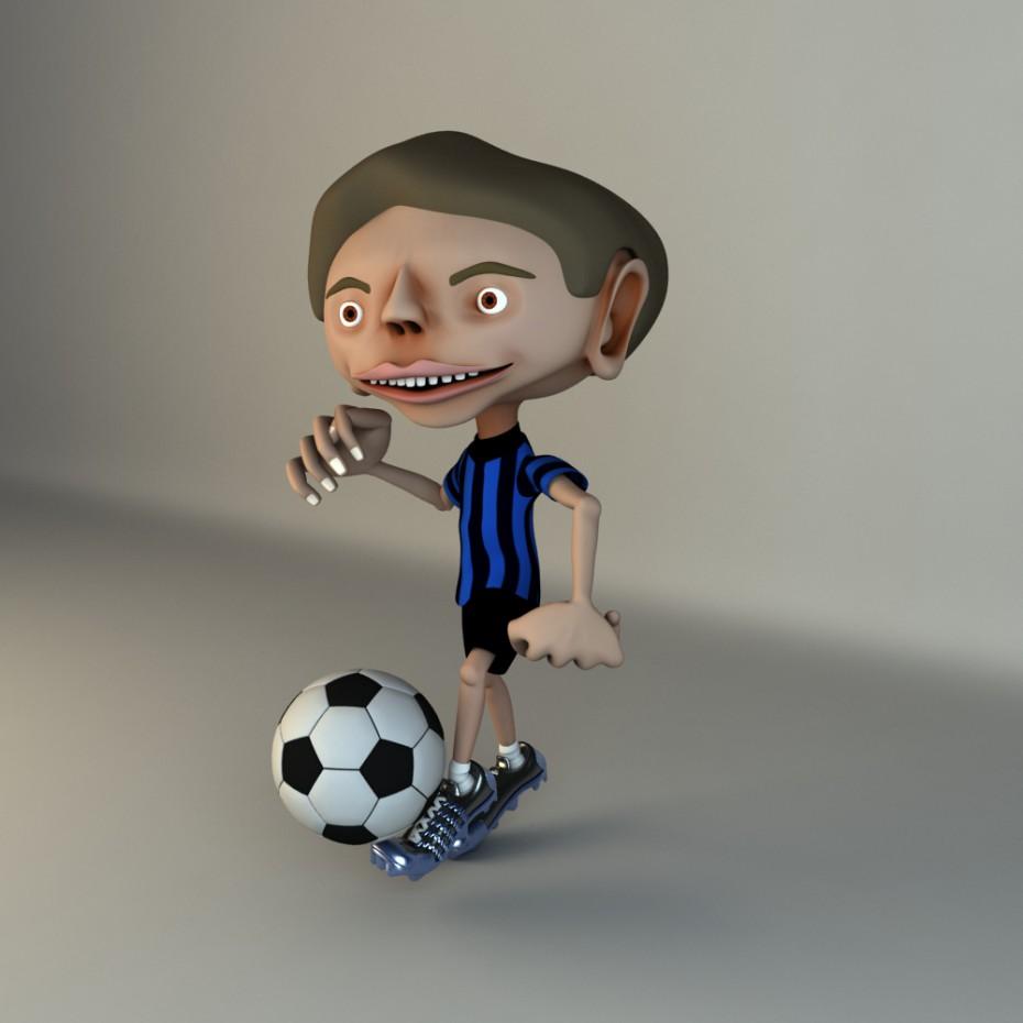 Персонаж мультфільму в Maya vray зображення