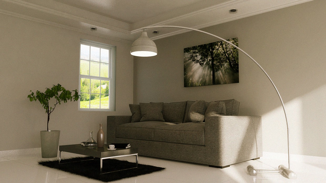Livingroom in 3d max mental ray image