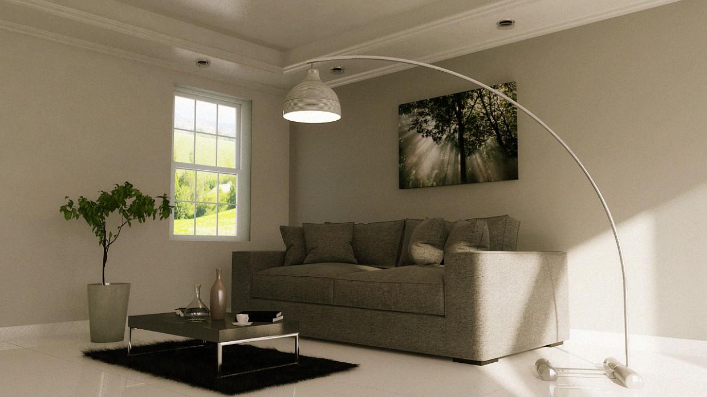 Livingroom in 3d max mental ray image