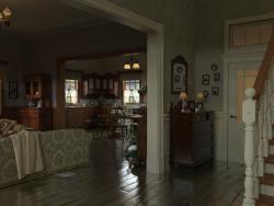 Эскиз декорации для ролика к компьютерной игры.