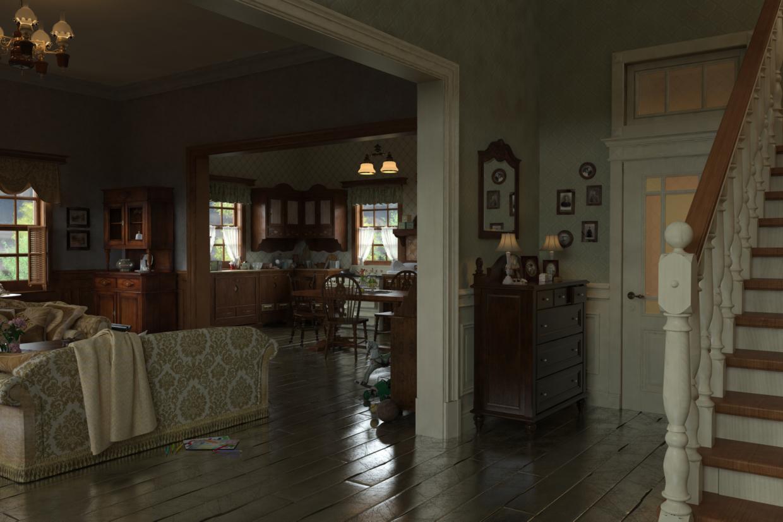 Эскиз декорации для ролика к компьютерной игры. в 3d max vray 2.5 изображение