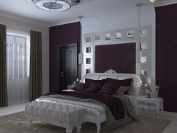 Bedroom Interior in the style of neoclassicism