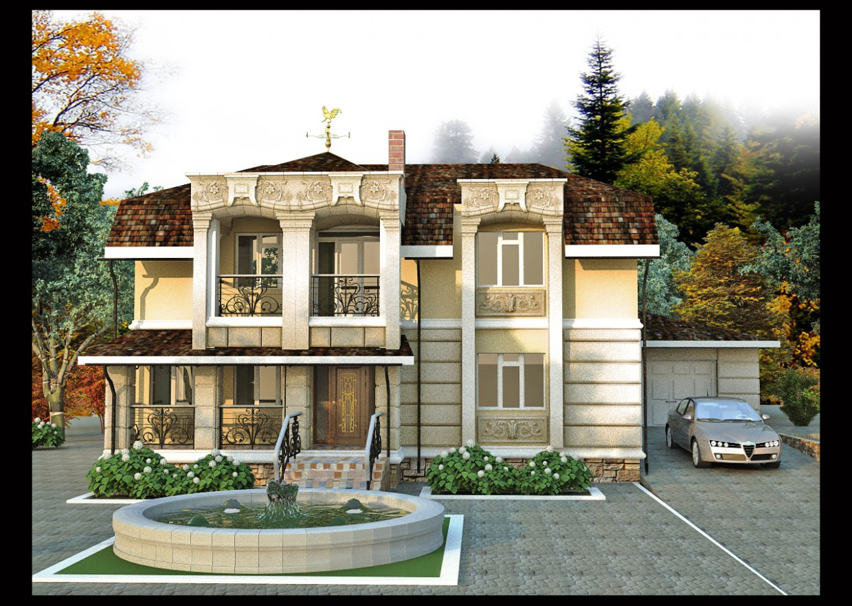 Житловий будинок в Фегурень в 3d max vray зображення