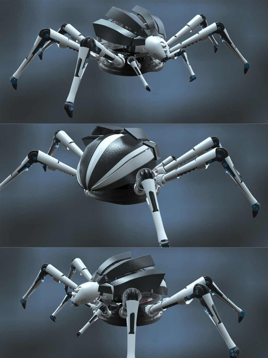 Mechanic Spider  in  Maya   vray  image