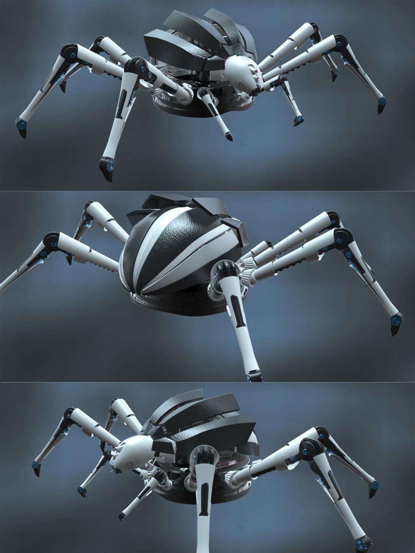 Паук робот в Maya vray изображение