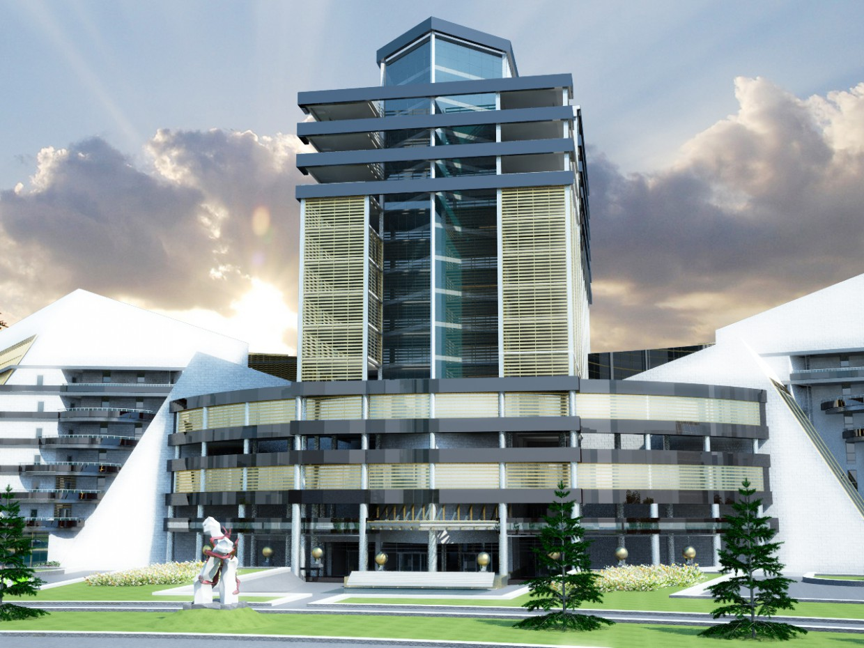 Hotel Complex in 3d max vray image