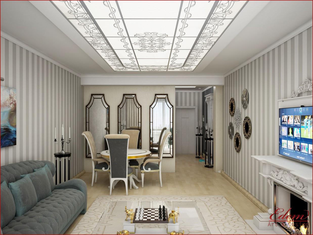 3d визуализация проекта гостиная в 3d max, рендер vray от urodi