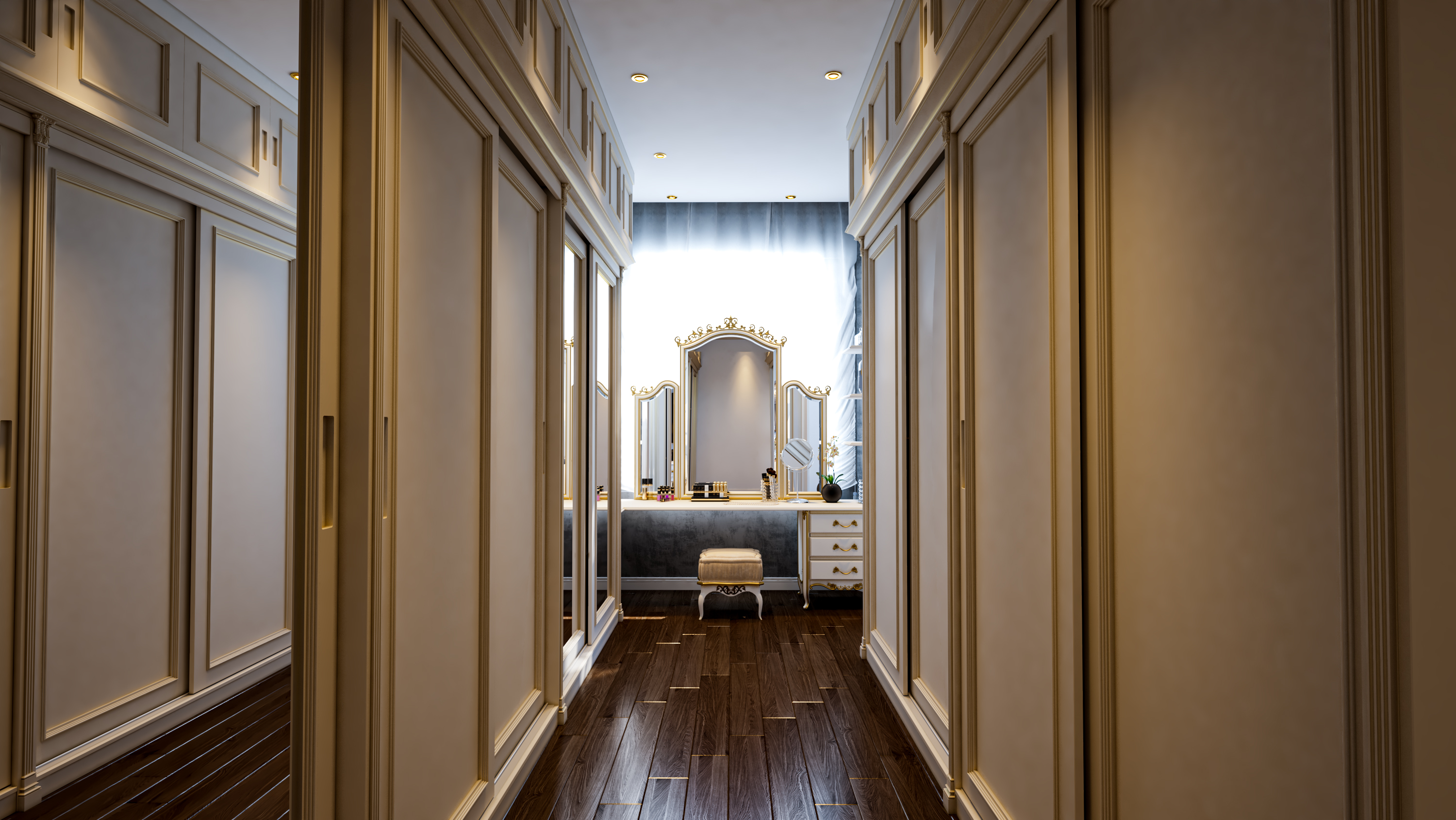 Master Bedroom Gray and white in 3d max vray 3.0 image