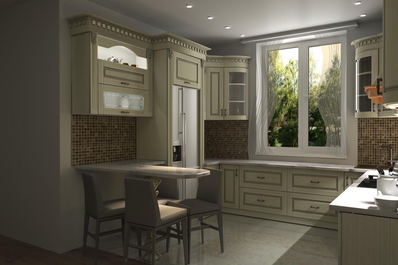 kitchens in 3d max corona render image