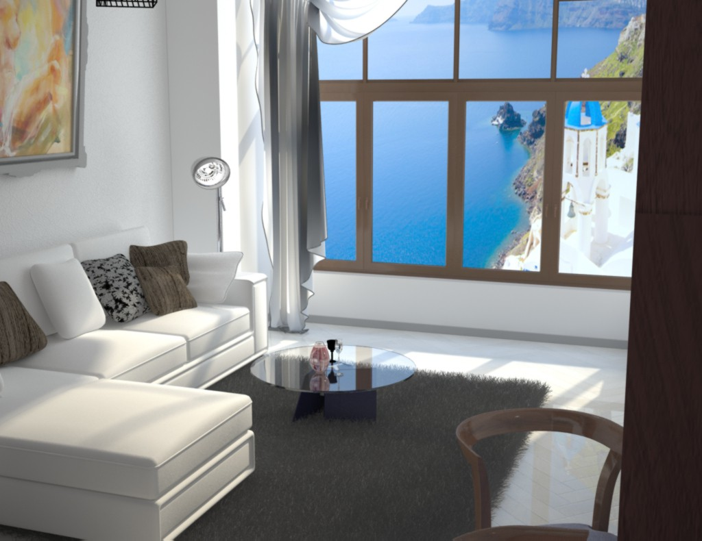 small apartment) in 3d max vray image
