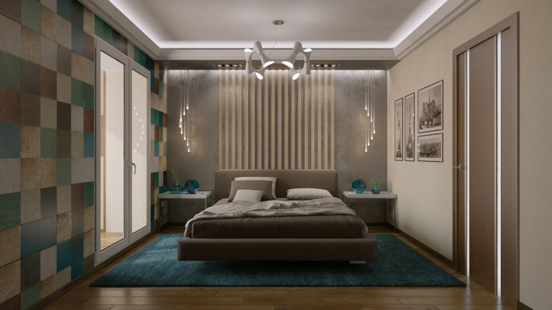 3d визуализация проекта Спальня в 3d max, рендер vray от maxx_trump