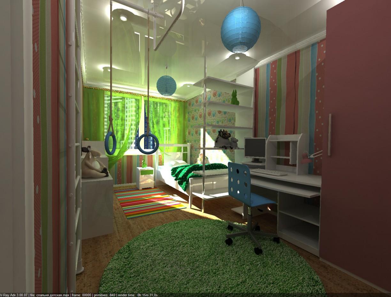 3d візуалізація проекту дитяча в 3d max, рендер vray 3.0 від nastymolodez