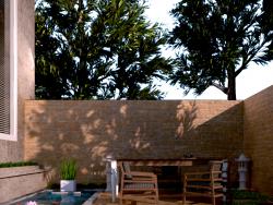 Giardino dietro la casa