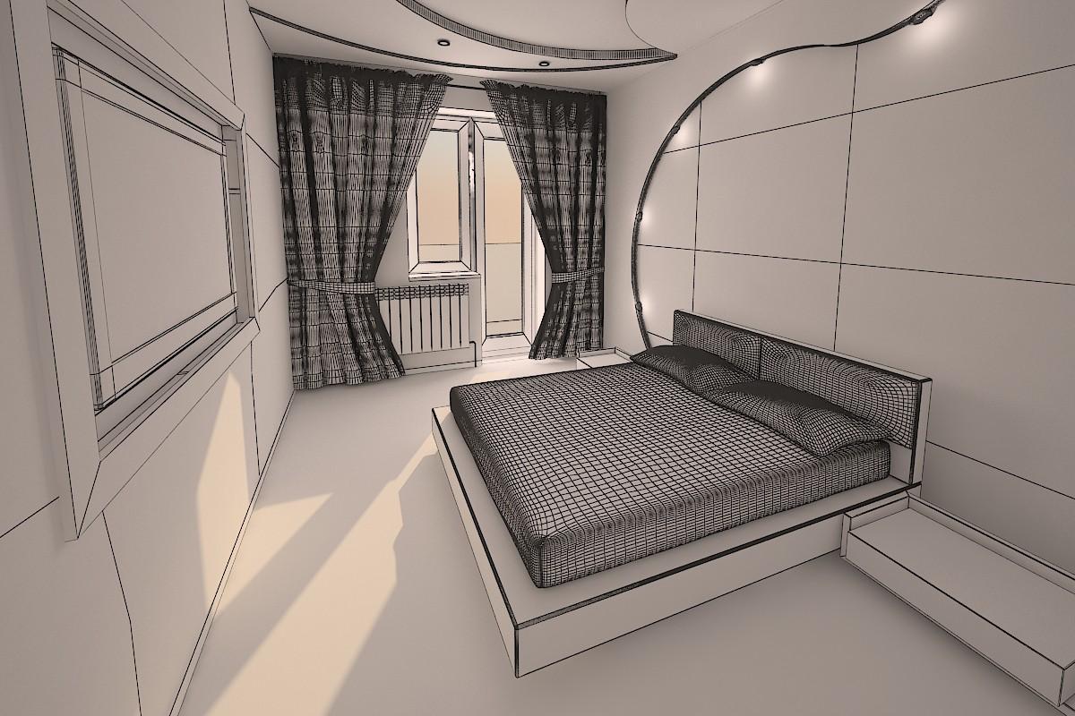 Bedroom в 3d max vray зображення