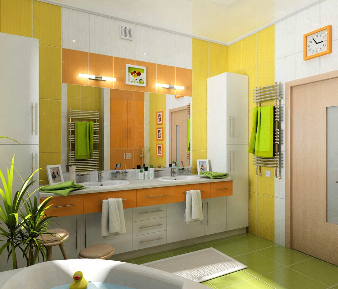 "Bathroom ""Daisy"" in 3d max vray image"