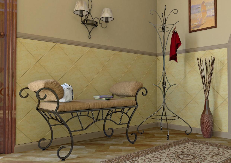 Кованая мебель в интерьере в Maya mental ray изображение