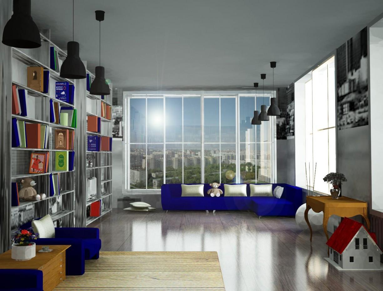 imagen de Interior de oficina (por Yana Popova) en 3d max vray