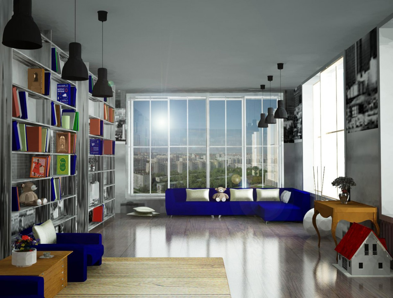 3d визуализация проекта Интерьер офиса (выполнила: Яна Попова) в 3d max, рендер vray от popova vladimirovna