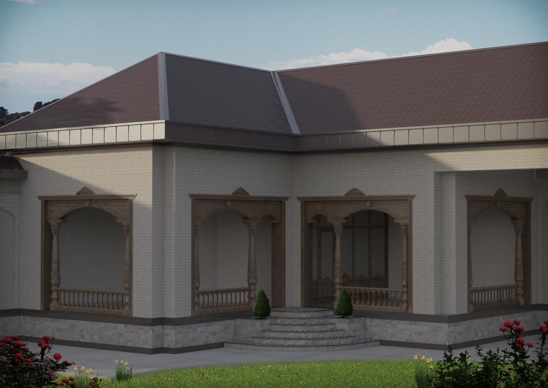 छत 3d max vray 3.0 में प्रस्तुत छवि