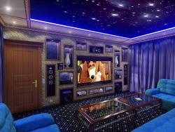 Дизайн-проект домашнего кинозала (видео прилагается)