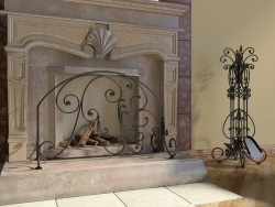 Wrought iron furniture in the interior
