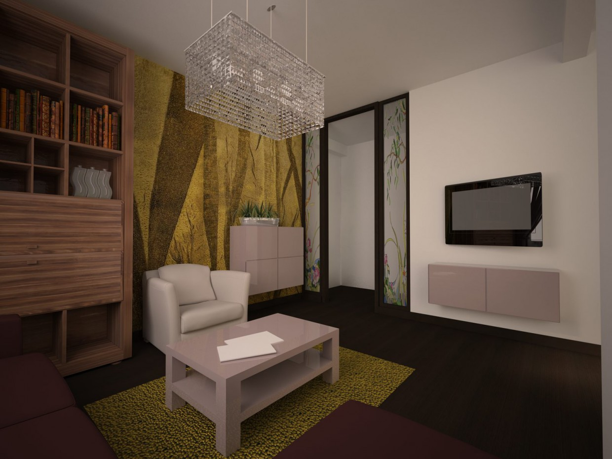 3d visualization of the project in the interior Design 3d max, render vray of виктория_vics1