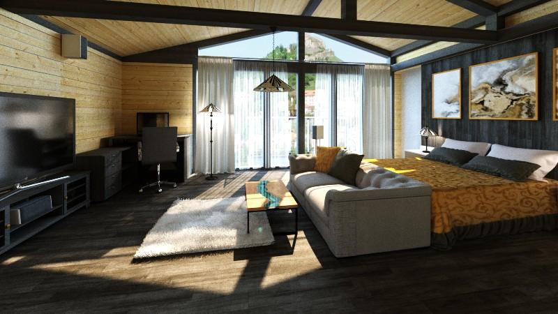 Bedroom rentals in 3d max corona render image