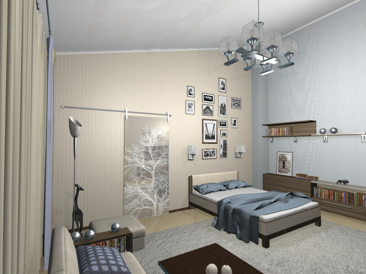 My room  in  3d max   mental ray  image