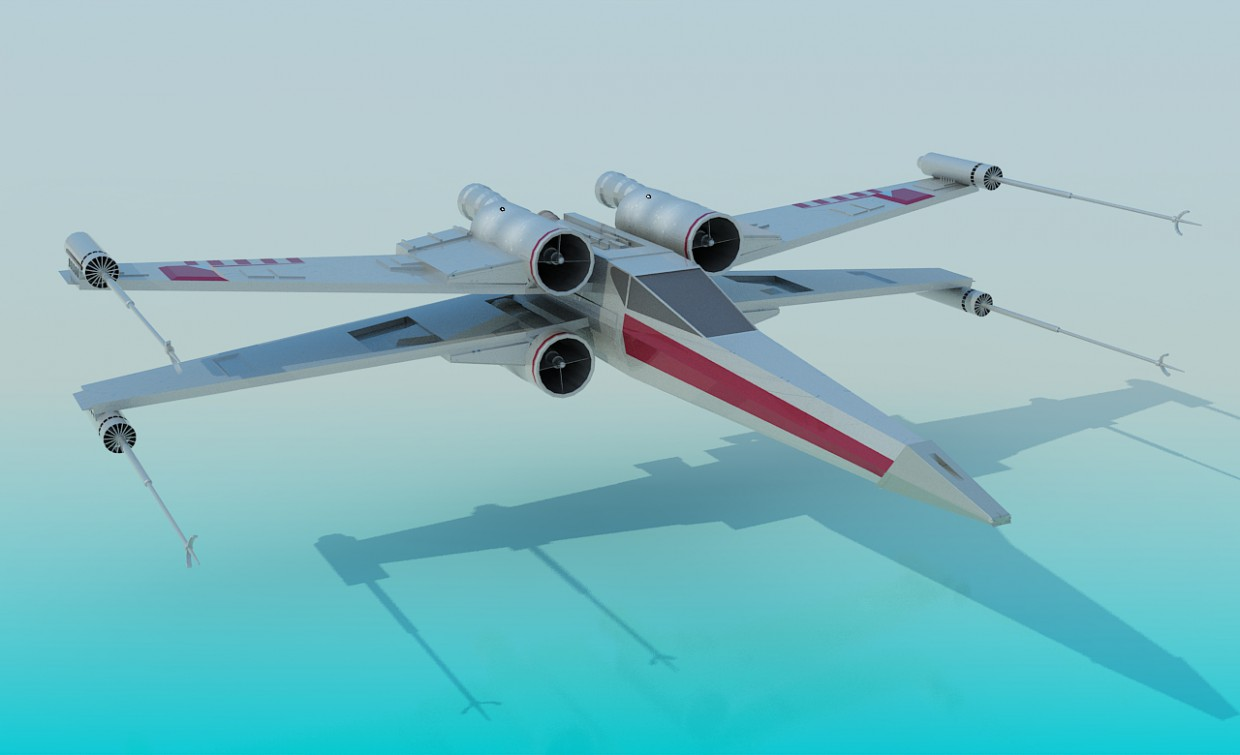 T-65T X-Wing (Star Wars) in 3d max vray image