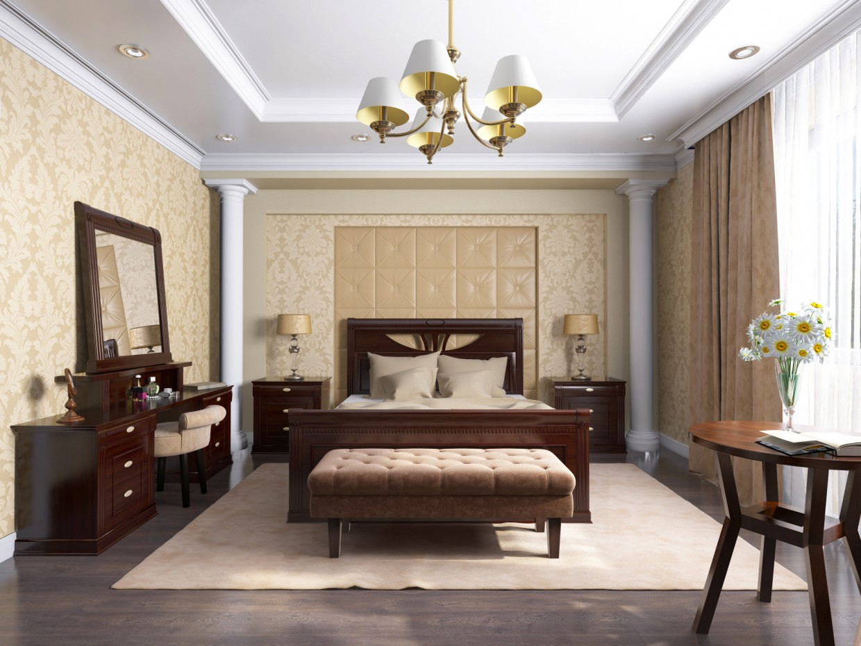 "Bedroom ""Valencia"" in 3d max vray 2.5 image"