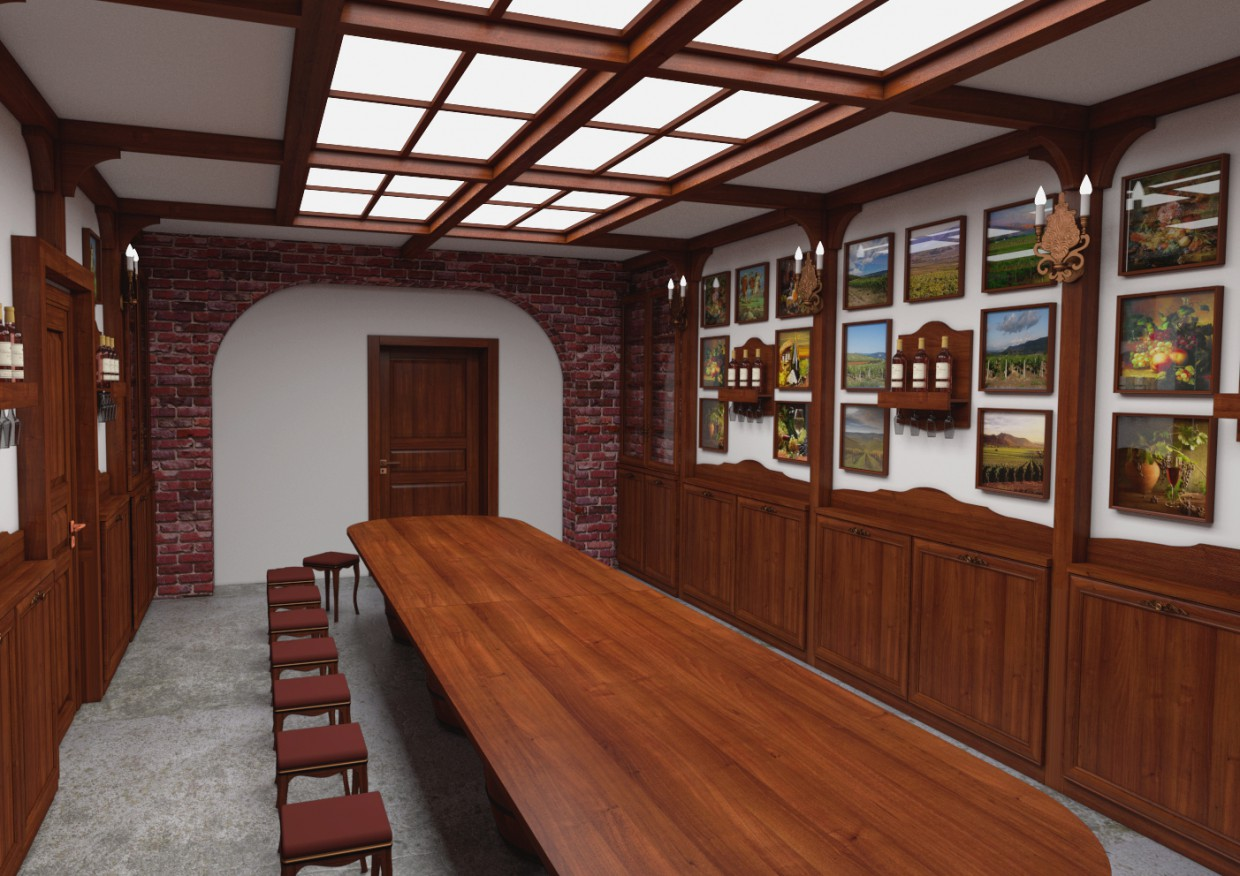 Center of wine culture wine tasting Hall of Sevastopol. in Blender cycles render image