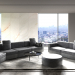 Interior in Los angeles in 3d max corona render image