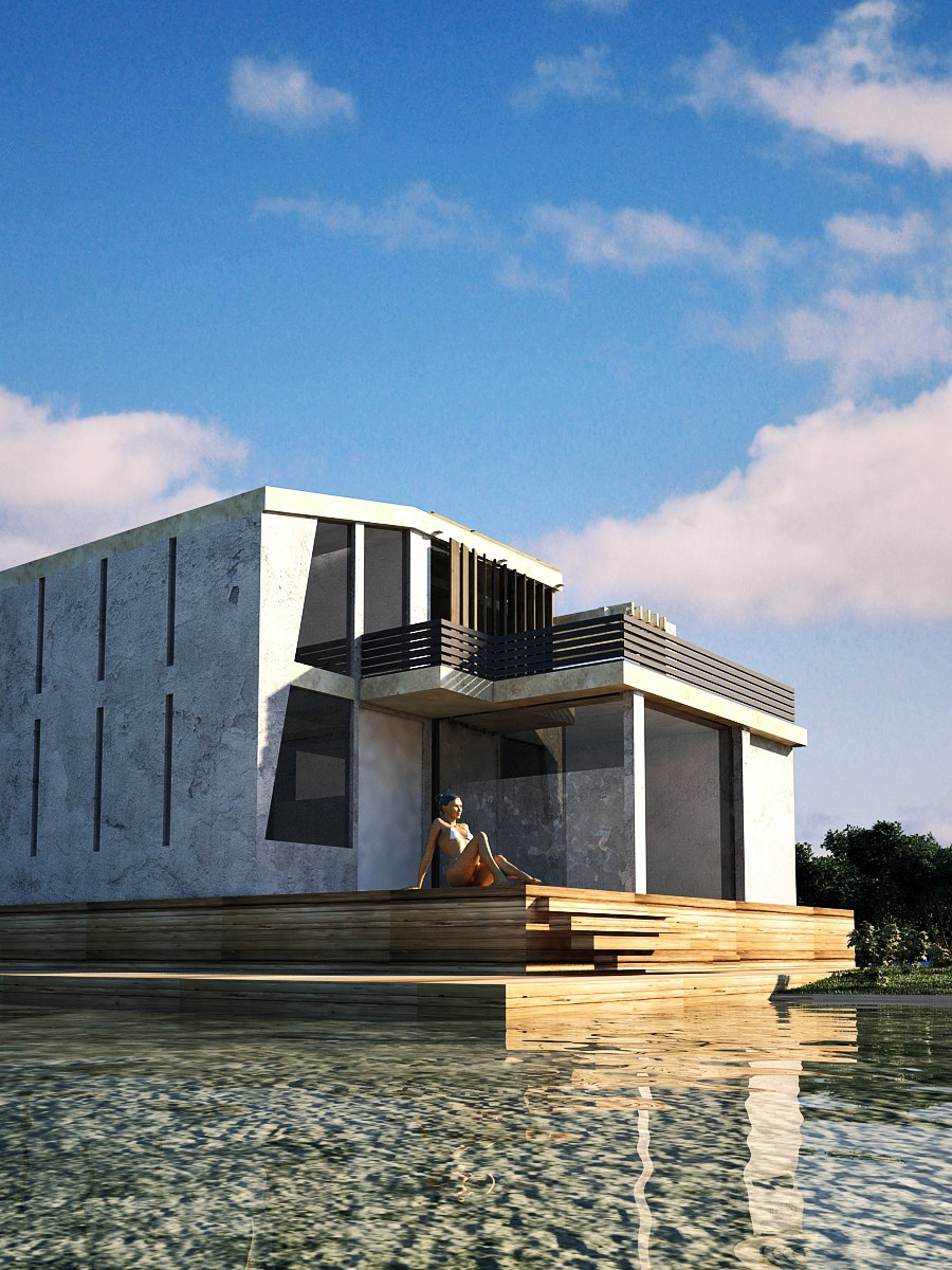 Dream home in 3d max vray image