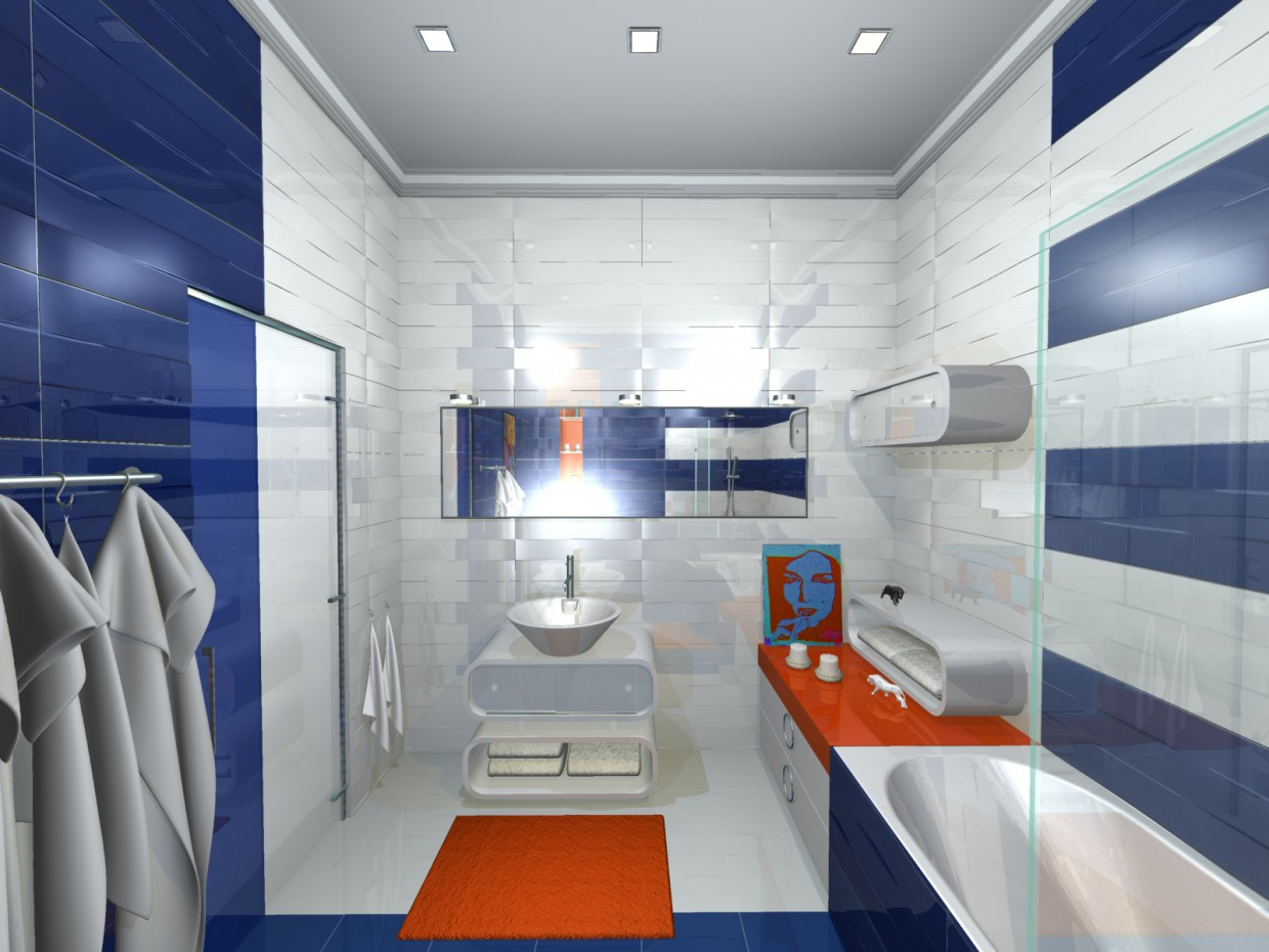 bathroom in options (2) in 3d max mental ray image