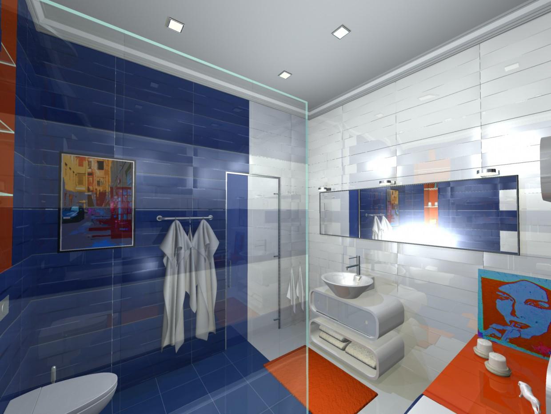ванная в вариантах (2) в 3d max mental ray изображение