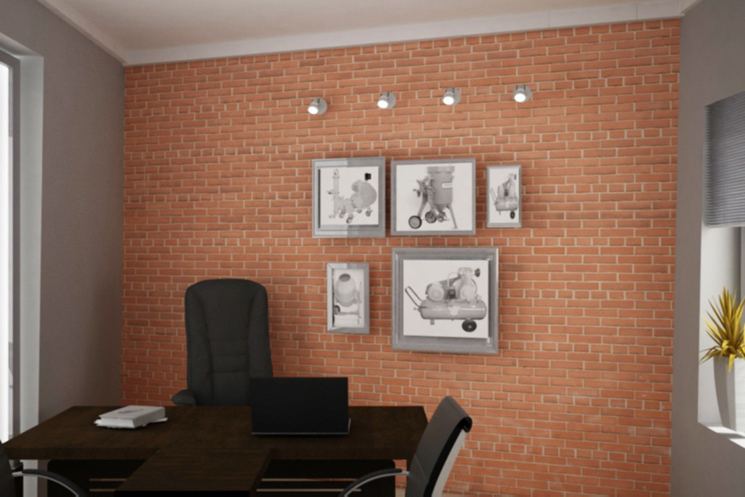 3d visualization of the project in the Office 3d max, render vray of fke02