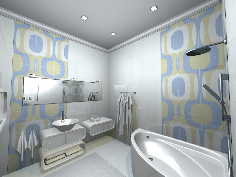 ванная в вариантах (3) в 3d max mental ray изображение