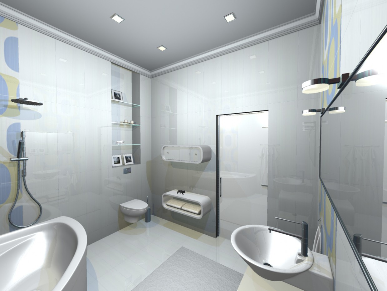 Ванна у варіантах (3) в 3d max mental ray зображення