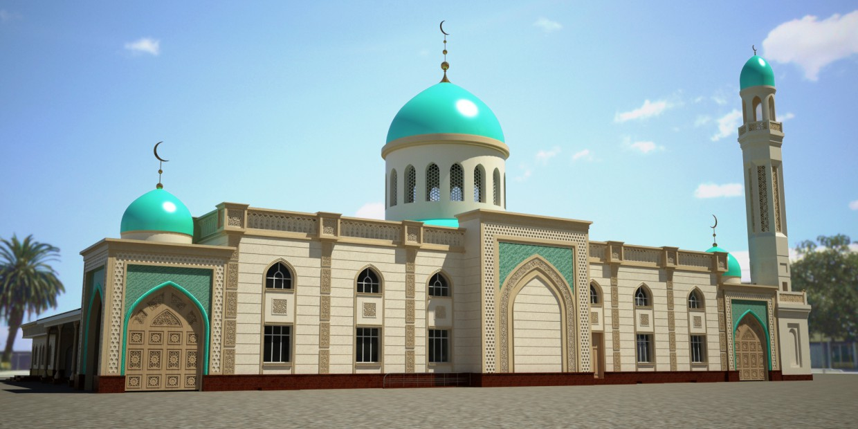 3d visualization of the project in the Mosque 3d max, render vray of Doroteya