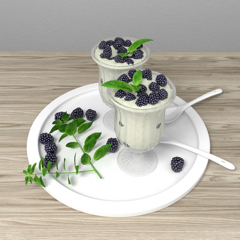 Milk dessert in 3d max vray 2.5 image