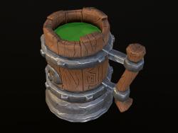 stylized jug