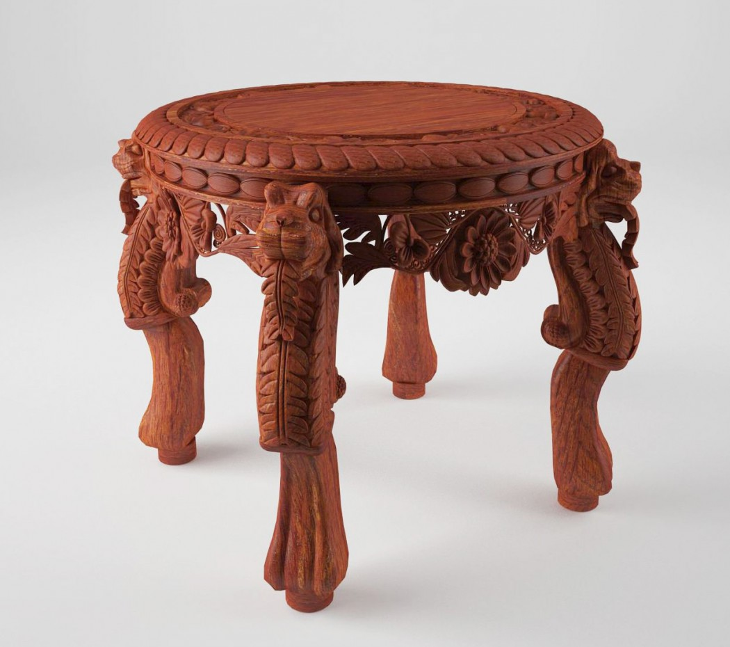 Round table in 3d max vray image
