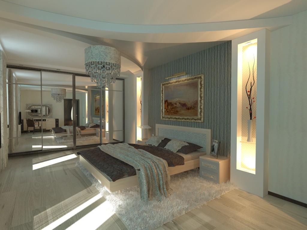 Спаленка в Одессе в 3d max vray изображение