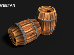 3D Barrel Model with texture